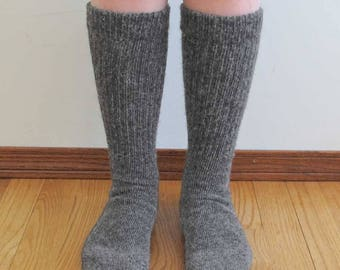 Alpaca wool socks - Everyday Style - Super cozy warm and soft socks Size Medium Gray color