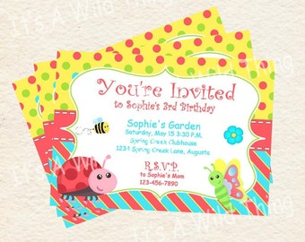 Cute Bugs Invitation