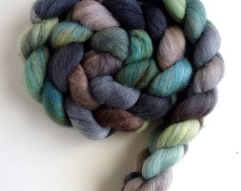 Polwarth/Silk Roving - Handpainted Spinning or Felting Fiber, New House