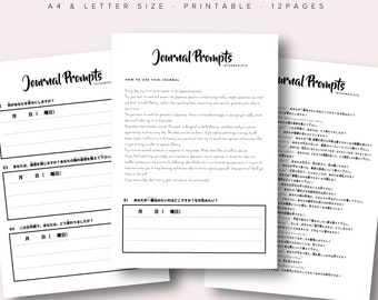 Intermediate Japanese Journal Writing Pack