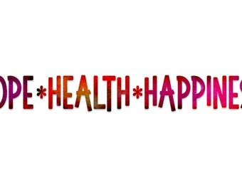 Hope Health Happiness Watercolor Business Cards