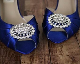 Wedding Shoes, Bridal Shoes, Blue Wedding Shoes, Wedding Shoes Blue, Something Blue, Something Blue Shoes, Custom Wedding Shoes, Kitten Heel
