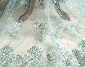 Alencon Lace Fabric/Lace Wedding Dress/Evening Dress/Prom Dress/Boho Wedding Dress/Boho Dress/FL-79