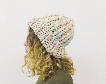 Chunky Hat Milo [rainbow] - Merino Wool - Bulky Knit Hat - Helsinki Hat - Merino Wool Hat - Merino Wool Beanie - Acrylic