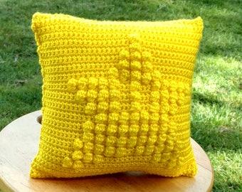 Embossed Crochet Invincible Star Pillow