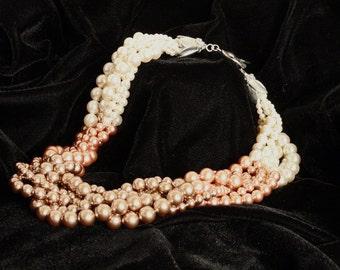Graduate to Bronze Multi-Strand Pearl Necklace
