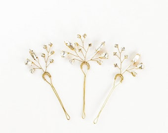 Bridal Hair Pin Set, Bridal Hairpin, Bridal Hair Pin, Wedding Hair, Modern Hair, Modern Bridal Hair, Hair Accessories, Hairpins