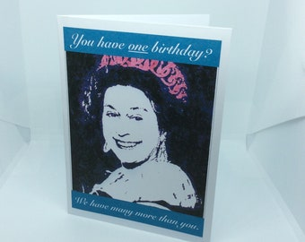 Birthday Card - The Queen: A6 can be personalised