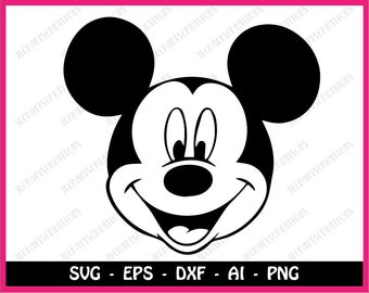 Mickey Mouse svg, disney svg, mickey mouse clipart, mickey svg, mickey head svg, Cricut Svg, Silhouette Cut Files, Cut Files