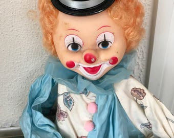 """Old Clown Doll Hand Made 28"""""""