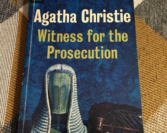 Vintage 1963 Agatha Christie Witness for the Prosecution Paperback Book