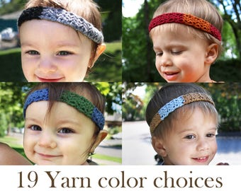 Baby Boy Crochet Headband / Gifts for Baby Boys / Toddler Boy Headband / Kid Headband / Boy Hair Accessories / Boy Hairband / Baby BoyBand