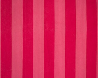 Pink & red tent-striped ticking
