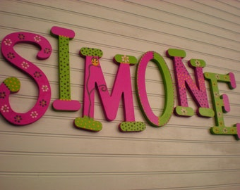 Kids Name Letters - Nursery Letters - Name Wall Letters - Whimsical Font