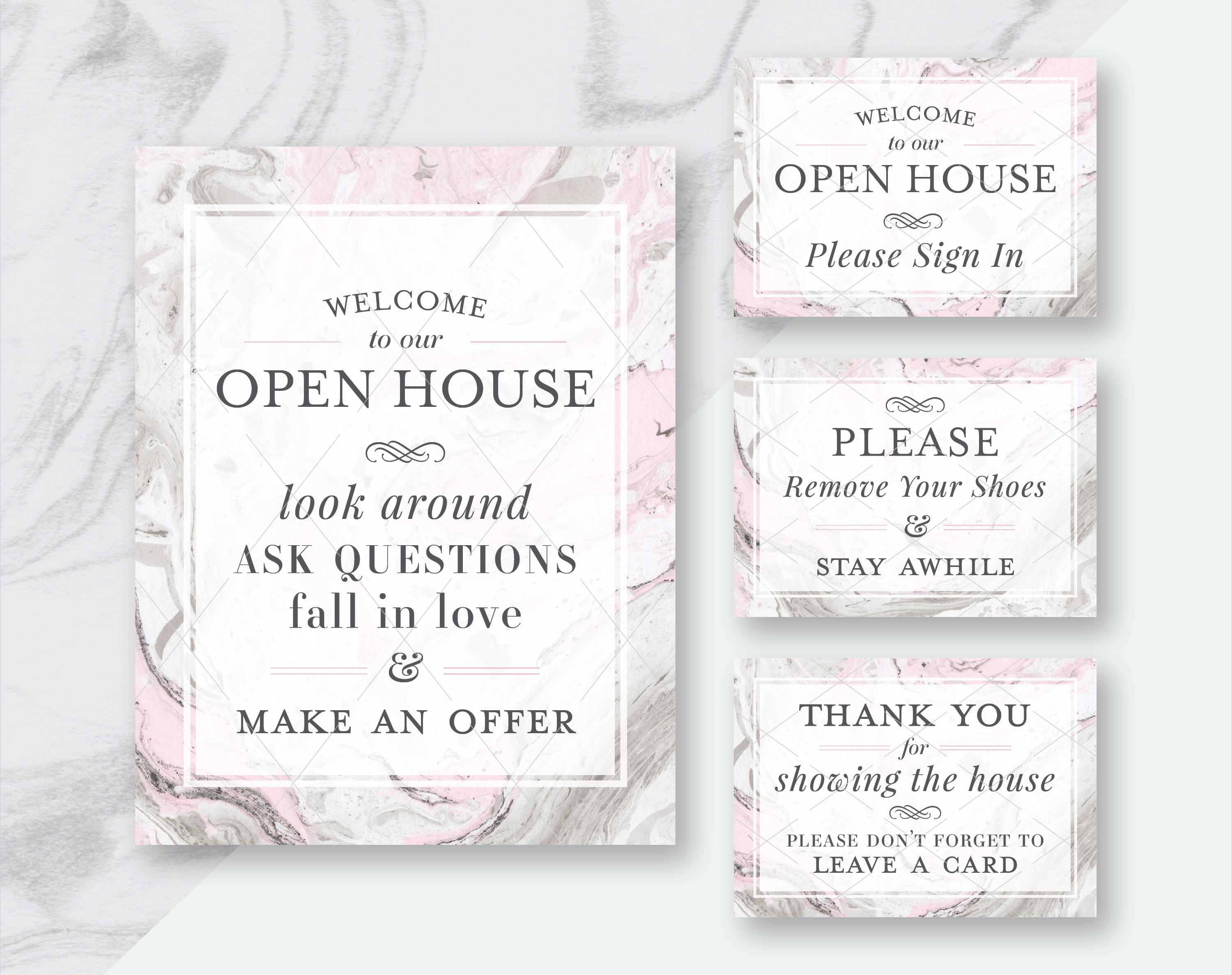 real estate welcome to our open house printables, Powerpoint templates