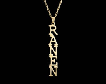 Nameplate Necklace - Personalized Name Necklace -  Custom Name Necklace - Gold Name Necklace - Name Plate Necklace - Personalized Gift - BFF