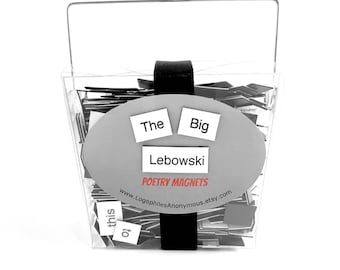 The Big Lebowski Magnetic Poetry / Fridge Magnets / Big Lebowski Quotes / Big Lebowski Gift / The Dude Abides / The Dude Quotes / Dude Decor
