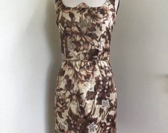 60's Brocade Wiggle Party Dress