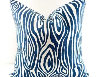 Navy Pillow cover. Willow Slub Navy Sham Cover. Wood grain. Vintage color. Sham Pillow case.Select your size.