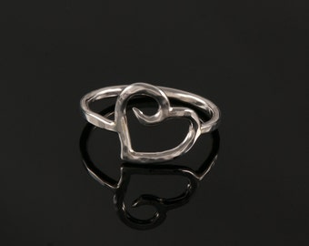 Spiral Heart Ring in Sterling Silver