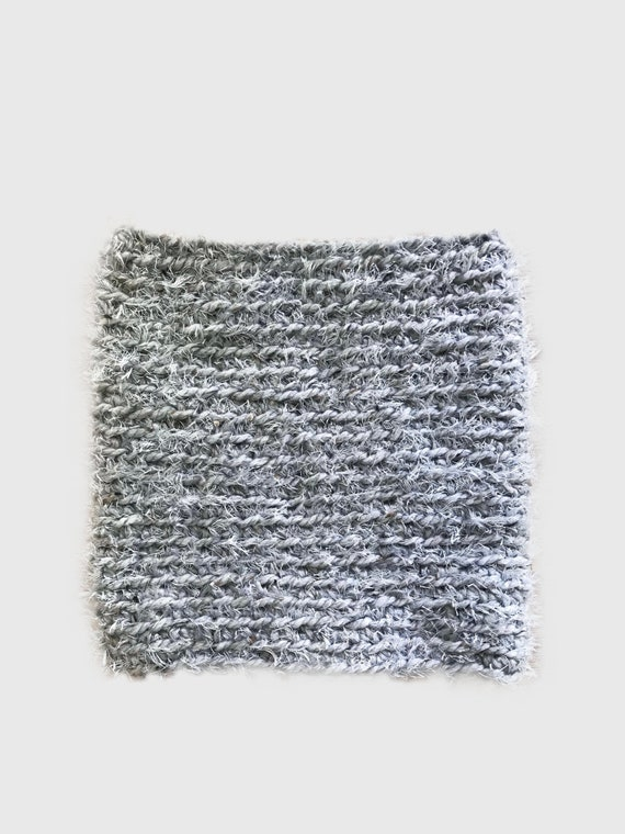 Chunky Crochet Faux Fur Reversible Cowl Grey Gray The