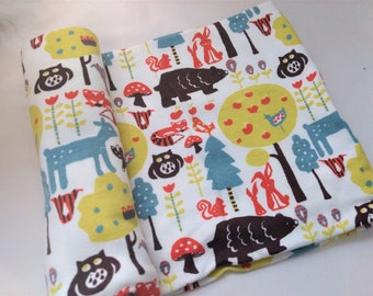 BABY BLANKET - ORGANIC Knit - Woodland Forest ***Ready to Ship ***