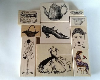 "Mounted Rubberstamps ""Feminine"" Collection"