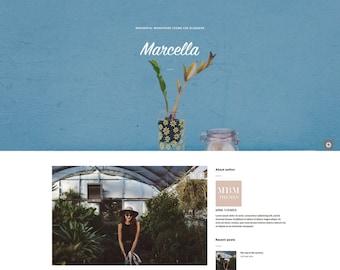 Sensible tema para WordPress - Marcella - Blog Template - paralaje - opciones de Theme - Google Fonts