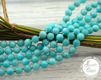 Peruvian Amazonite 9-10mm round beads (ETB01093)
