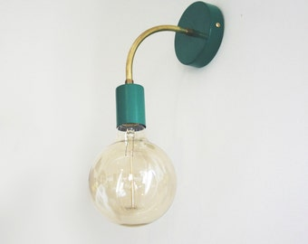 Mid Century green wall sconce light - Lighting Ponz Home Design