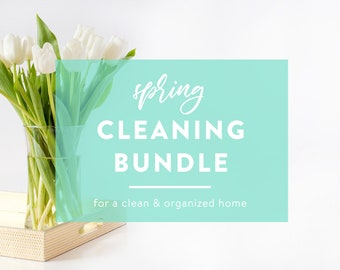 Spring Cleaning Bundle - Clean and Organized - Clean Home, Home Maintenance, and Home Inventory Kits - INSTANT DOWNLOAD