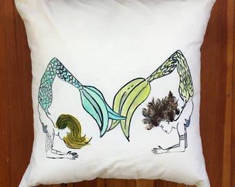 Scorpion yoga mermaid pillow
