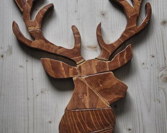 Wooden Deer Sign