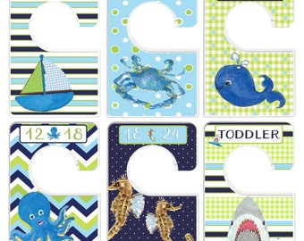 Custom Baby Closet Dividers Nautical Nursery Ocean Nursery Clothes Organizers Baby Shower Gift Baby Boy by Mumsy Goose