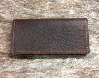 Buffalo Leather Check Book Cover