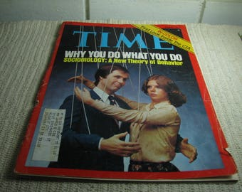 1977 Time magazine with story about running out of oil in 2017