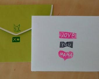 love you mama card/print