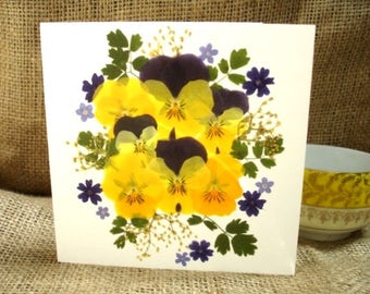 Thank You Card, Love You Card, Blank Card, Get Well Card, Gift Card, Thinking Of You Card, English Pressed Flower PRINT