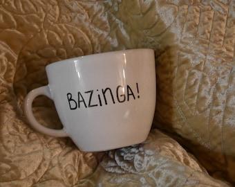 Bazinga custom mug Sheldon personalized present friend gift big bang theory gotcha got ya