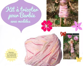 Knitting patterns with kit for Barbie dolls