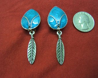 On Sale! Free Shipping*! CLIP ON EARRINGS, Clip Earring, Indian, Cowgirl Jewelry, Western Jewelry, Clipons, silver, turquoise, #80207-2C