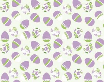 Easter Eggs on White From Riley Blake
