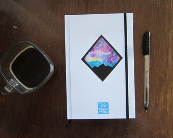Blank book for writing and drawing with watercolor starry Night/personal diary or drawing Notebook