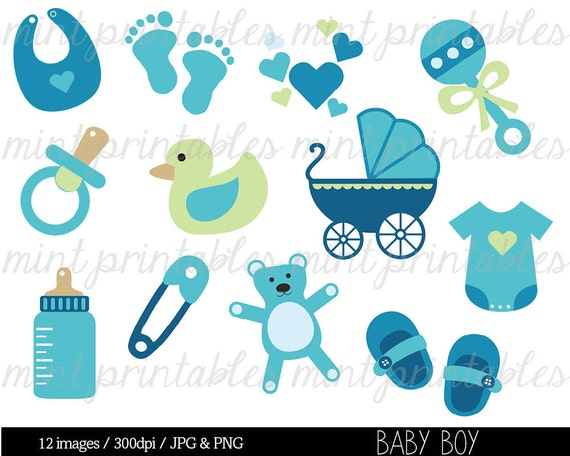 baby shower clipart clip art baby boy clipart baby clipart rh etsy com baby boy shower invitation clipart Baby Boy Shower Borders Clip Art