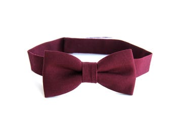 kids bow tie, toddler bow tie, burgundy bow tie, bow tie for toddlers, boys bow tie