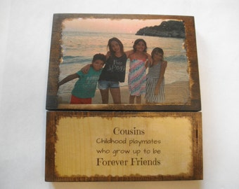Personalized photo gift, photo transfer on wood, Picture on wood, photo on wood, family gift, gift for grandparents, 5 year anniversary