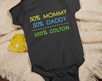 Personalized Baby Boy Infant Creeper [baby boy, infant creeper, t-shirt, personalized, black, cotton, washable, snap bottom] -gfy938159X