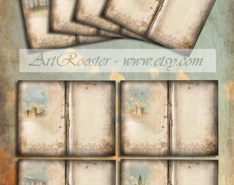 Castle Paper Scrapbook Journal Pages Printable Stationery Paper Download Digital Scrapbook Writing Paper Aged Digital Background Diary