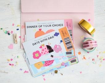 Kids Reward Coupons, 16 Gift Coupons for Kids