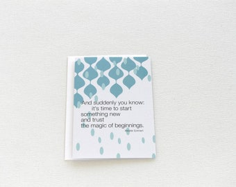 New Journey Card, New Beginnings, Happy Spring Card, New Adventure Gift, Retirement New Job Card, Coworker Card, Thinking of You Card - 156C